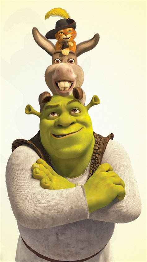 Shrek donkey and puss in boots Wallpaper for iPhone 11 ...