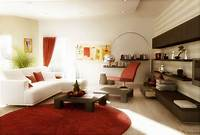 living room design ideas Rust Red White Living Room Furniture Designs : Furniture ...