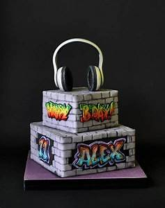 Graffiti Cake - CakeCentral com