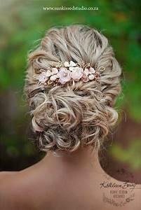 Rose Gold Hair Comb Hairpiece Blush Pink Wedding Bridal