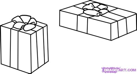 how to draw presents step by step christmas stuff