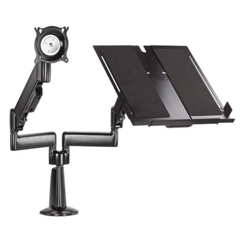 chief height adjustable monitor laptop dual arm desk mount