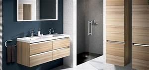 Meuble Salle De Bain Bois Gris : meuble de salle de bain contrast aquarine ~ Edinachiropracticcenter.com Idées de Décoration