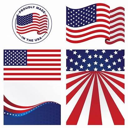 Flag Vector Flags Clipart Vectors American Unidos