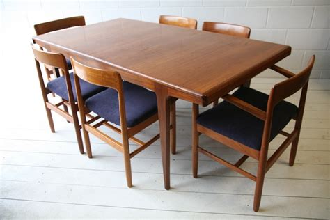 1960s teak dining table and chairs and chrome