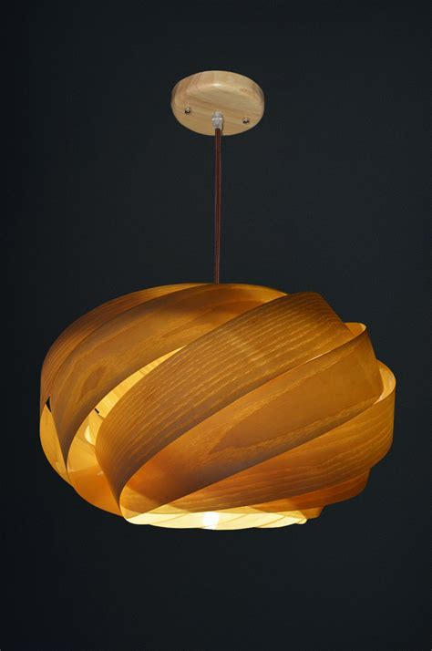Wood Veneer Lighting Pendants   Tequestadrum.Com