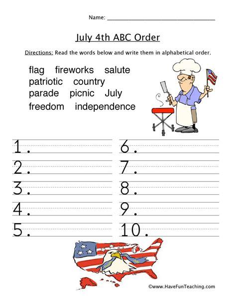 4th of july worksheets 4th of july worksheets have fun teaching