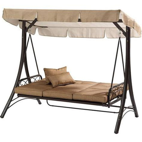 3 Person Porch Swing by Convertible Outdoor Swing With Canopy Cover Porch