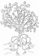 Coloring Pages Tree Magic sketch template