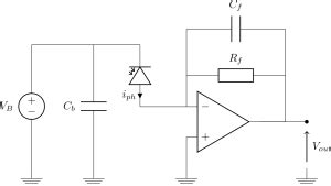 High Gain Transimpedance Amplifier For Photodiodes