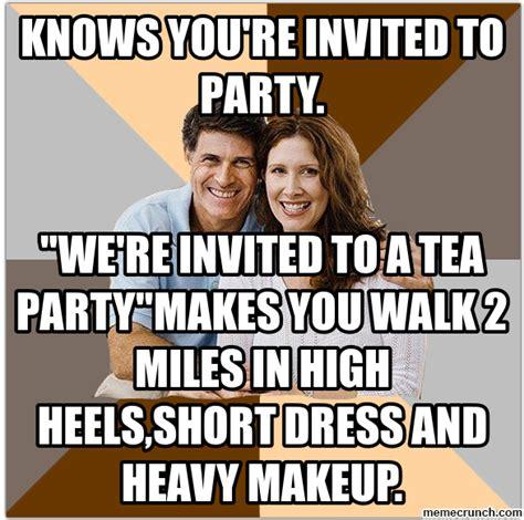 Parent Meme - scumbag parents party