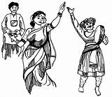 Dance Maharashtra Lavani Coloring Folk India Classical American Heritage Indian Native Dances 4to40 Month Drawing Indians Mighty Coloringpagesfortoddlers Disimpan Dari sketch template