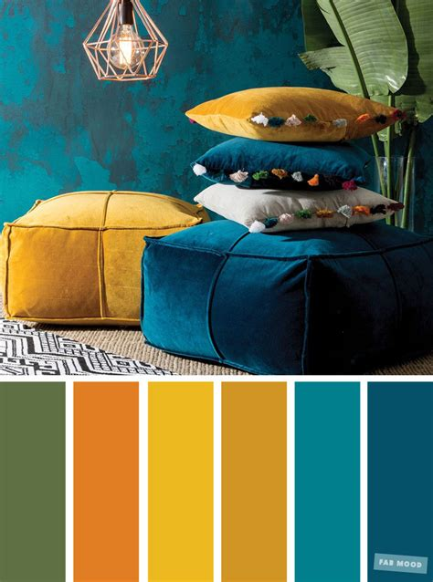 peacock color palette color inspiration copper green mustard peacock teal
