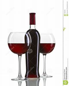 Red Wine Bottle And Glasses Stock Photos - Image: 13625603