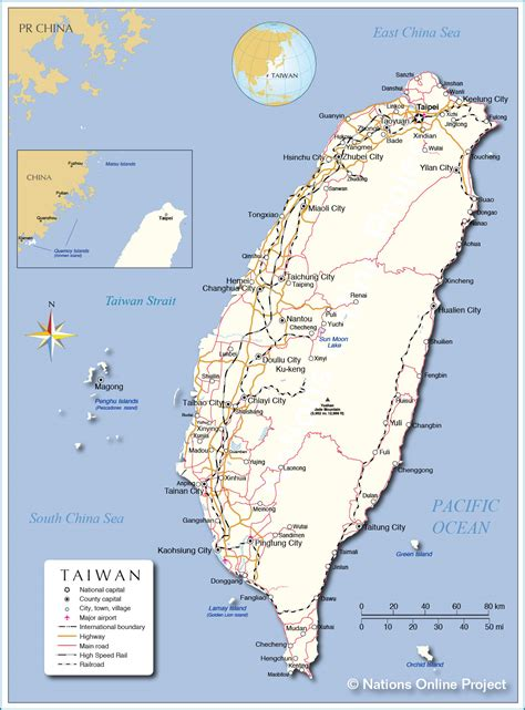 political map  taiwan nations  project