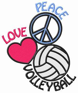 Love, Volleyball, Clipart