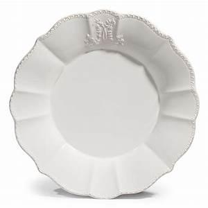 Assiette Plate Blanche : assiette plate en fa ence blanche d 27 cm bourgeoisie maisons du monde ~ Teatrodelosmanantiales.com Idées de Décoration