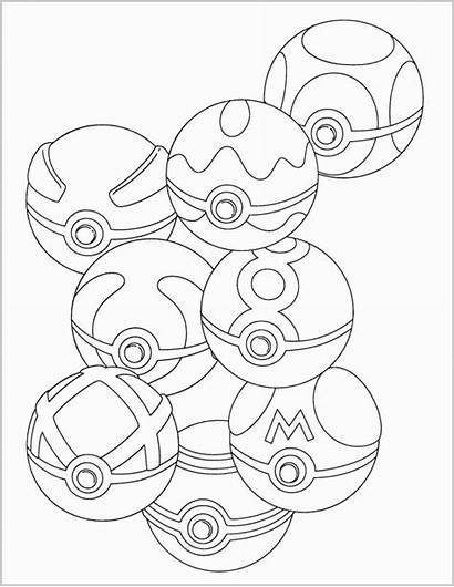 Pokeball Coloring Pokemon Pages Ball Sheets Inspired
