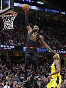 lebron scores 46 cavaliers hold pacers to even series