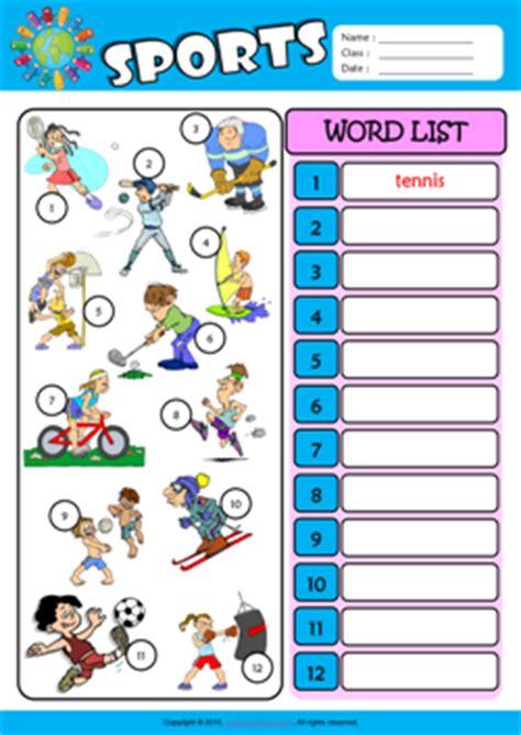 Sports Esl Printable Worksheets For Kids 3