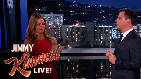 sofia vergara mean tweets sofia vergara and jimmy kimmel read mean internet comments
