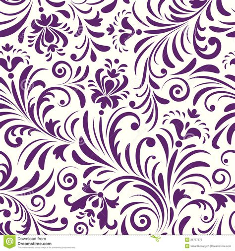 seamless pattern with abstract flowers royalty free stock