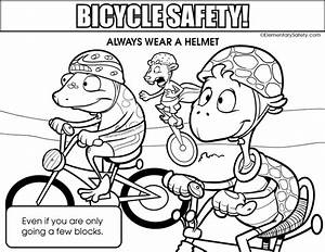 Bike Helmet Coloring Page Quality