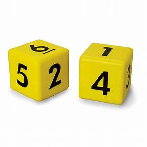 Jumbo Foam Number Dice