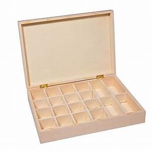 Boite A Compartiment : sortierbox aus holz 28 x 20 x 5 5 cm online kaufen buttinette bastelshop ~ Teatrodelosmanantiales.com Idées de Décoration