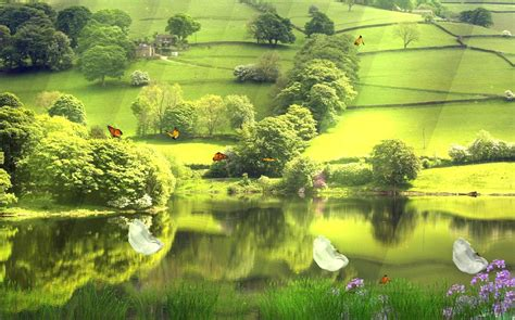 Animated Landscape Wallpaper - beautiful landscape screensaver animated