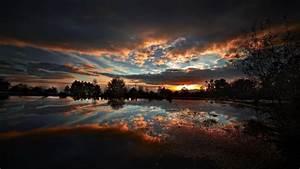 Nature, Sunset, Landscape, Sunlight, Reflection, Wallpapers, Hd, Desktop, And, Mobile, Backgrounds