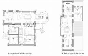 Maison Architecte Plan : plan d 39 architecte maison contemporaine ~ Dode.kayakingforconservation.com Idées de Décoration