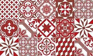 Tapis Carreau Ciment : tapis vinyle carreaux de ciment ginette rouge ~ Voncanada.com Idées de Décoration