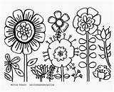 Coloring Flower Garden Pages Landscape sketch template