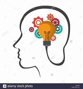 Human head icon. Thinking design. Vector graphic Stock ...