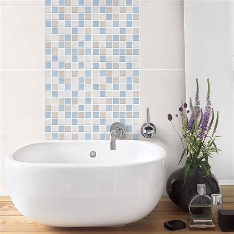 Fliesenaufkleber Mosaik 15x20 by Fliesenaufkleber Mosaikfliesen Meersand 15x20