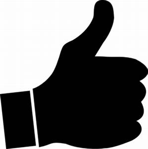 Black And White Thumbs Up Clipart - Clipart Suggest