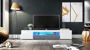 Tv Möbel Hochglanz Weiß : tv lowboard board schrank tisch m bel santiago v2 wei hochglanz naturt ne ebay ~ Bigdaddyawards.com Haus und Dekorationen