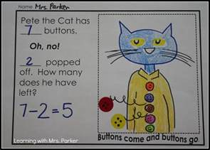 pete the cat groovy buttons subtract with pete the cat learning with mrs