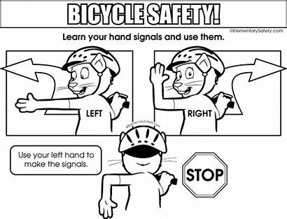 Coloring Signals Hand Colouring Safety Pages Bicycle