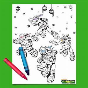 Teenage Mutant Ninja Turtles Holiday Coloring Page