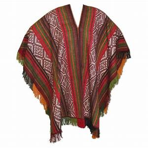 Peruvian Traditional Wool Blend Poncho | bonnaroo | Pinterest