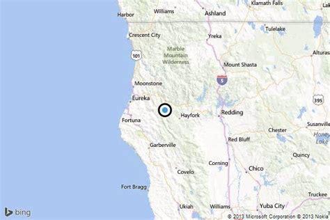 earthquake  quake strikes  hayfork latimes