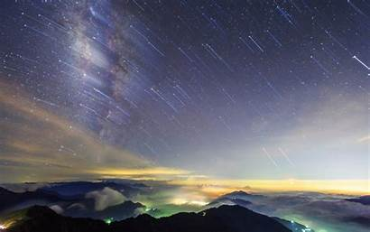 Sky Stars Night Wallpapers Desktop Trails Skies