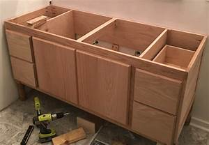 how to dye wood and use lime wax to finish oak highlight With making a bathroom cabinet