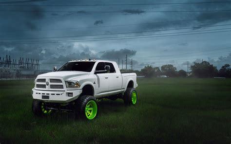 Dodge Ram Car Truck Suv Tuning White Hd Wallpaper