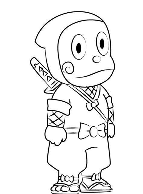 ninja hattori cartoon drawing easy cartoon drawings