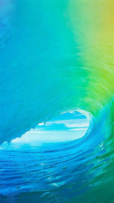 apple ios official apple wave wallpaper