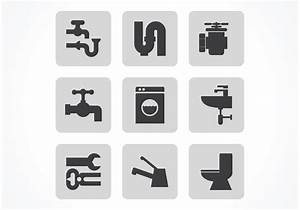 Free Vector Black Plumbing Icon Set - Download Free Vector ...