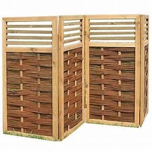 paravent aus holz weide und bambus fur haus und garten With französischer balkon mit weiden paravent garten